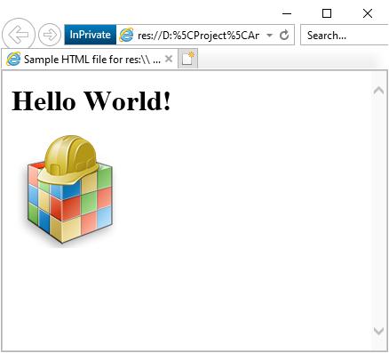 HTML-Ressource In einer DLL