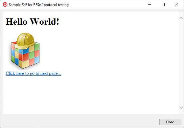 Anwendung mit HTML-Ressourcen.